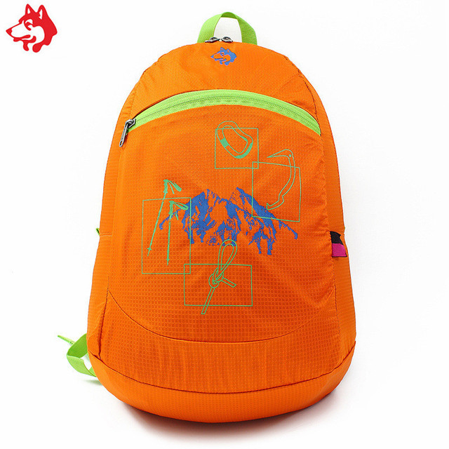 100% original Wholesale Durable Red  waterproof light weight 20L folding outdoor hiking camping sports backpack