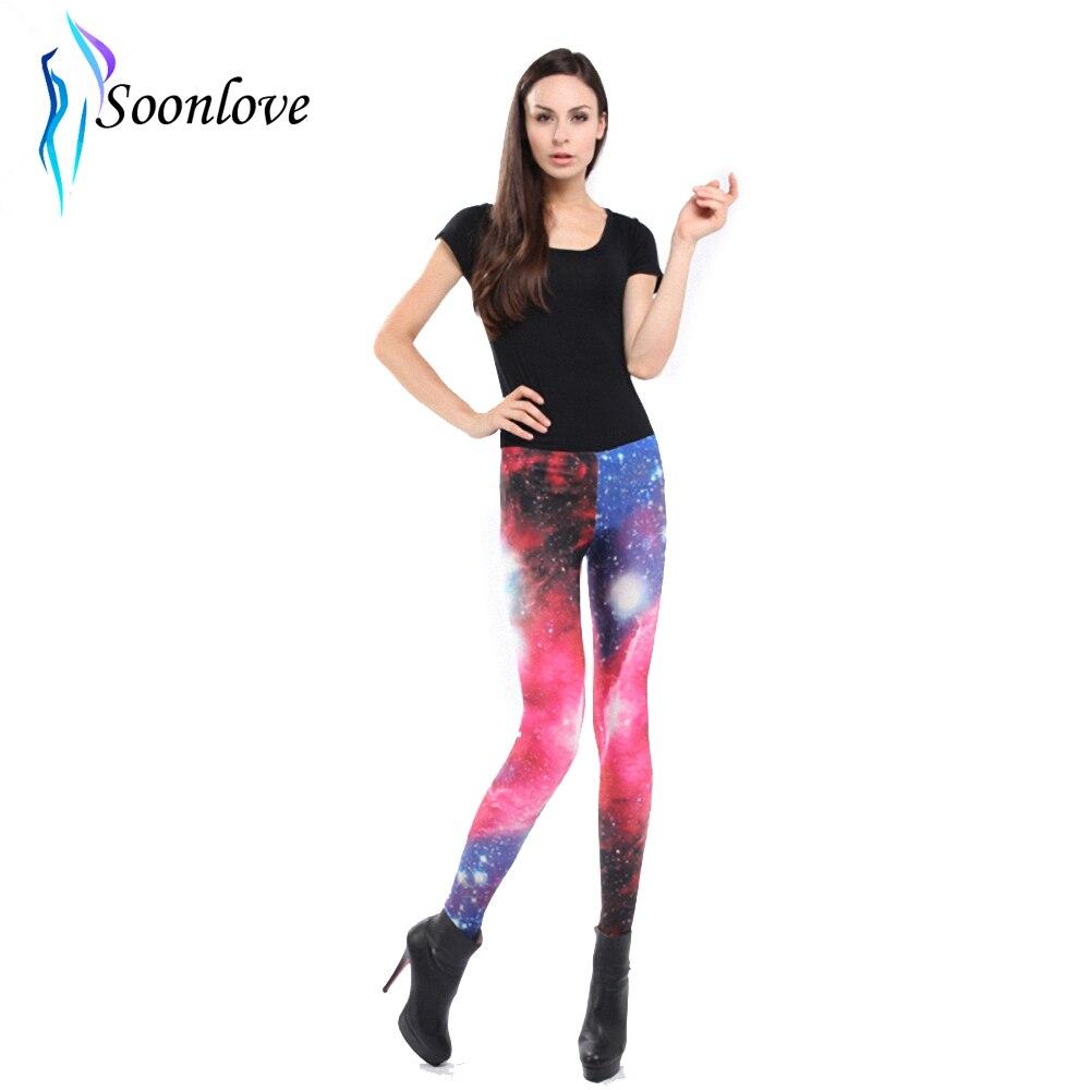 Woman Galaxy Print Leggings Cheap Price Drop Shipping-in ...