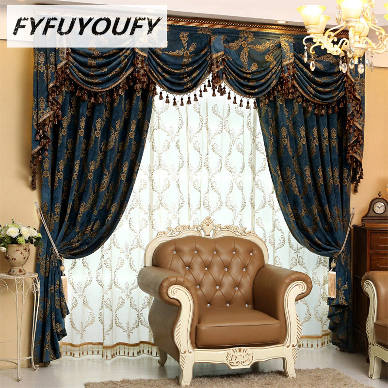 Fresh Europe Luxury Embroidered Window Curtains for Living Room Kitchen Classic GrayBlackout Curtain French Window Treatments Elegant - New Contemporary Window Coverings Awesome