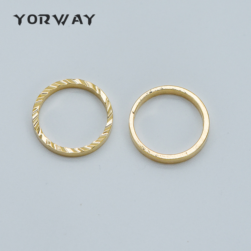 20pcs Gold Plated 304 Stainless Steel Female Symbol Charms Smooth Pendants 11mm