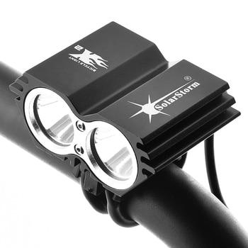 SolarStorm 5000 люмен 2x XML U2 LED SolarStorm велосипедный велосипед передняя фара (без батареи)