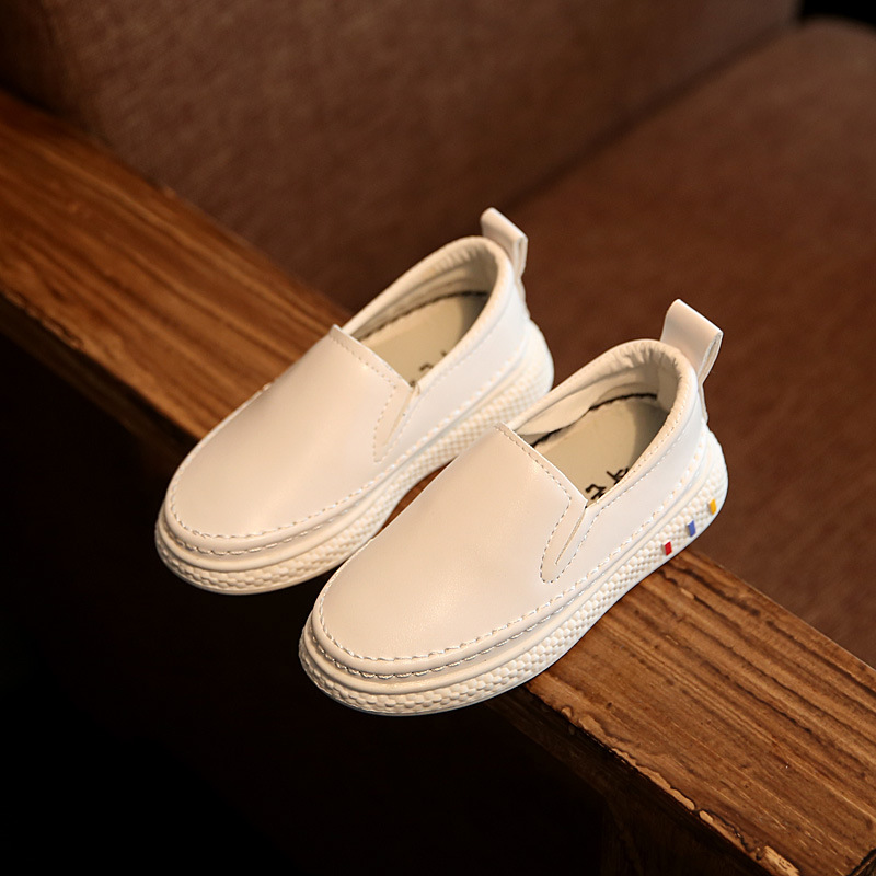 Children Shoes Boys Girls PU Casual Shoes Sneakers Fashion Kid Flat Loafers Kids Breathable School