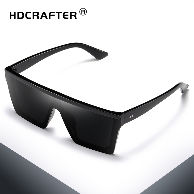 Quadrado Óculos de Sol Das Mulheres Dos Homens Espelho Moda Senhora UV400  Condução Masculino Óculos De Sol Flat Top Óculos Lentes De Sol Hombre 496289ef27