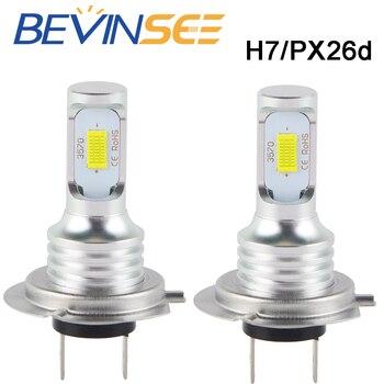 цена на 2 PCS Bevinsee H7 Car LED DRL Daytime Running Lights 6500K 50W 12V CSP Chips Fog Light Bulbs