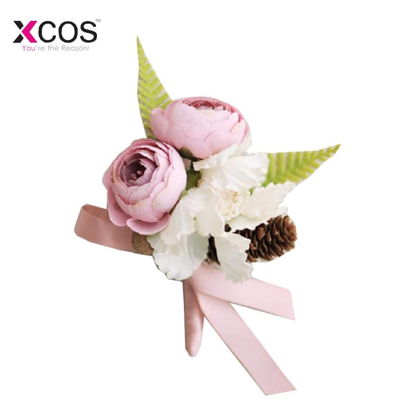 Boda Boutonniere flor mano broche ramillete testigo Boutonniere novio dama  padrinos muñeca flores HQ510 - Blog Store 93412b4e360