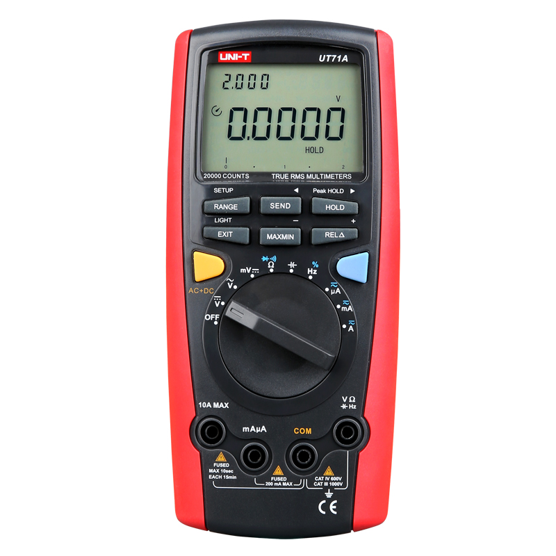 Smart Digital Multimeter UNI-T UT71A Digital AC DC current voltage USB true REL Resistance Tester Ammeter Multitester uni t ut71b professional intelligent lcd digital ac dc current voltage meter usb true rel resistance tester ammeter multitester