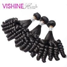 4Pcs/lot Fummi Brazilian Virgin Curly Hair Soft Stema Hair Popular Human Hair Brazilian Fummi Hair Free Shipping