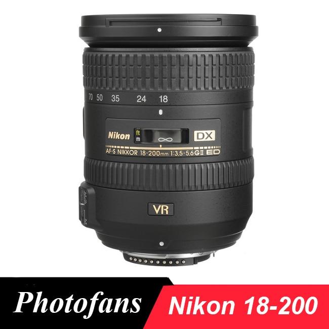 Nikon 18-200 objectif Nikkor AF-S DX 18-200mm f/3.5-5.6G ED VR II Lentilles pour Nikon D3100 D3200 D3300 D5500 D5300 D90 D7200 D7100