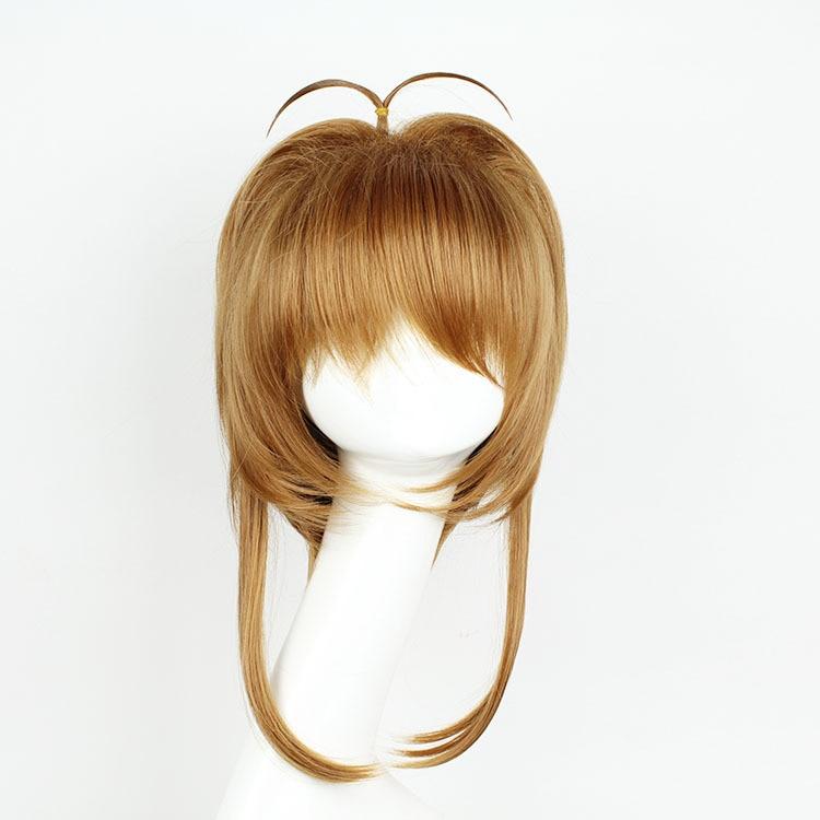 Anime  Card Captor KINOMOTO SAKURA Cosplay Wig Halloween Party Stage Play  Hair for Women/girls