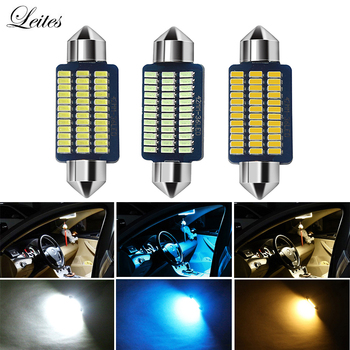 100pcs C5W C10W 31/36/39/41MM 3014 21/30/36Led Interior Reading Light 36SMD Clearance Bulbs Auto plate Lamp white 12V