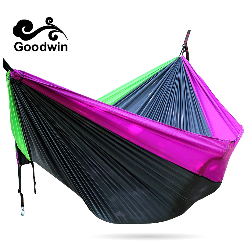 Outdoor Parachute Hammock 3*2m 2.6*1.4 Cot Camping Bed Iqammocking Mahogany Hammock Portable Outdoor Sleeping Hammock Bad Hamaca