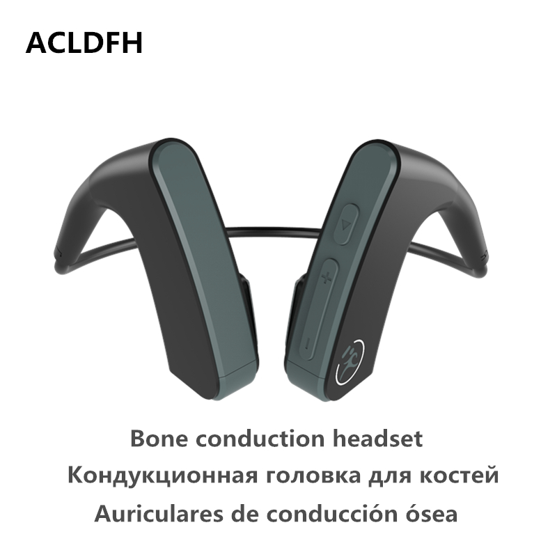 ACLDFH Bluetooth Headset Wireless Earphone Bone Conduction Transducers Sport Wireless Earbuds with Stereo v4.1 for xiaomi huawei vague and safe wireless bluetooth fold bone conduction transducer hearing aid headset stereo sport earphone bb16 three colors