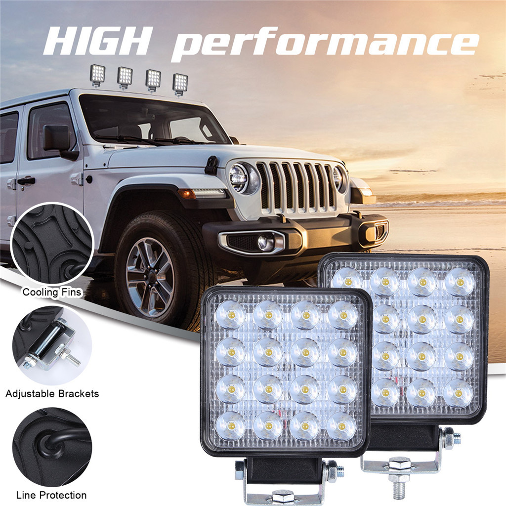 2x LED Lamps For Cars LED Work Light Pods 4 Inch 160W Square Spot Beam Offroad Driving Light Bar Luces Led Para Auto-in Light Bar/Work Light from Automobiles & Motorcycles