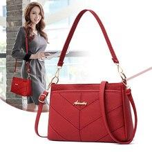 Monederos y bolsos de hombro para mujer, bandolera pequeña a la moda, de piel sintética roja, bolso bandolera de mujer