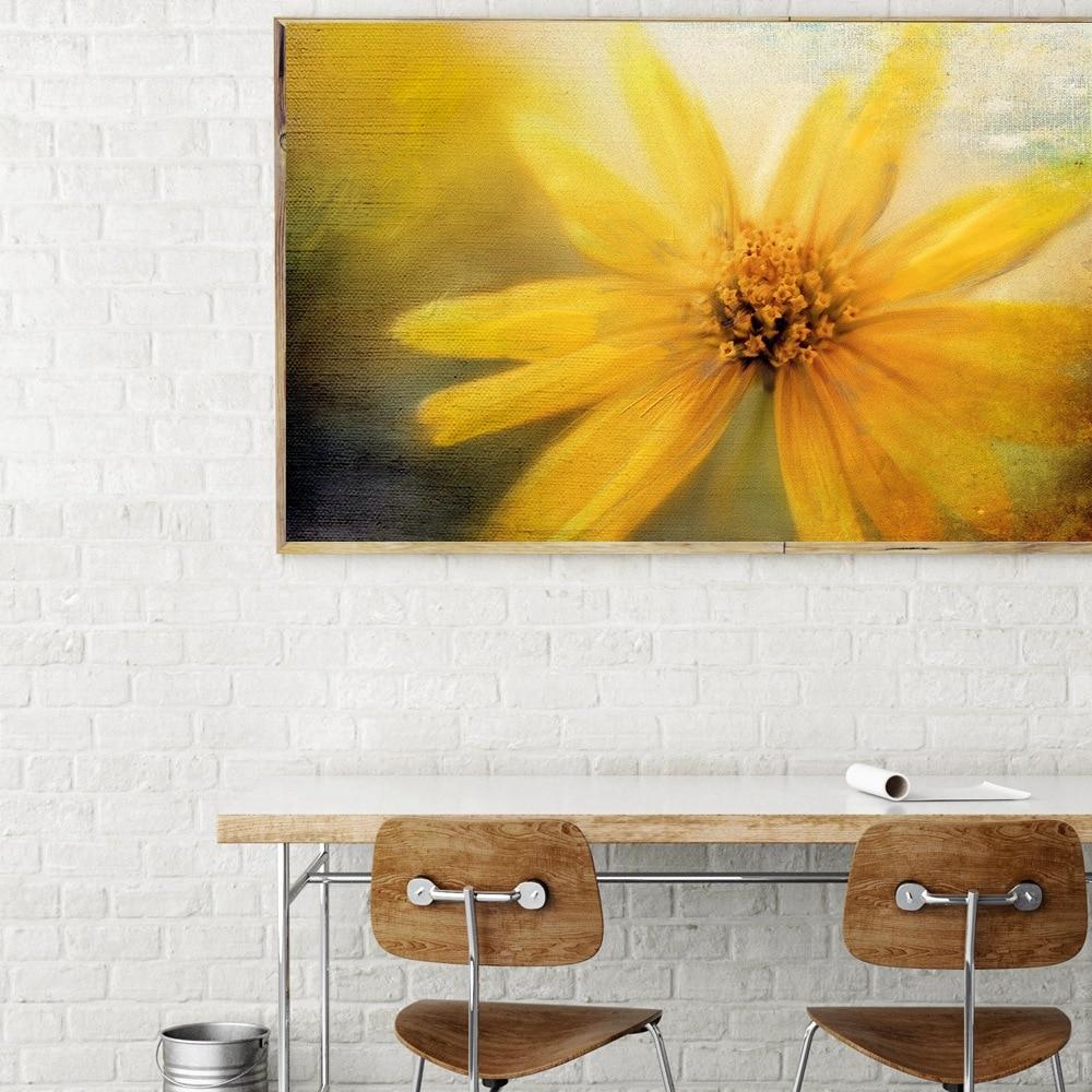 HD Print Yellow Flower Chrysanthemum Landscape Wall Art Canvas ...