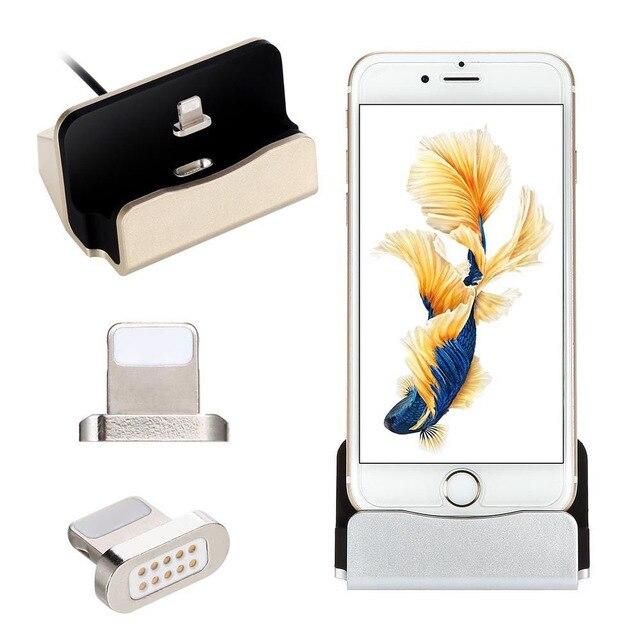 40704935e2557e Magnetic USB Charging Sync Dock 8pin Desktop Charger Station Cradle For Apple  iPhone X 8 Plus 7 Plus 6S 6 Plus 5S SE