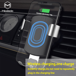 Mcdodo Car Qi Wireless Charger for iPhone X 8 Plus Gravity Holder Fast Wireless Charging Air Vent Mount For Samsung Galaxy S9 S8
