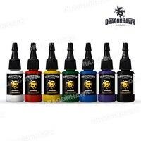 Dragonhawk TATTOO INK 7 PACK Primary Color Set 0 5oz Bottles