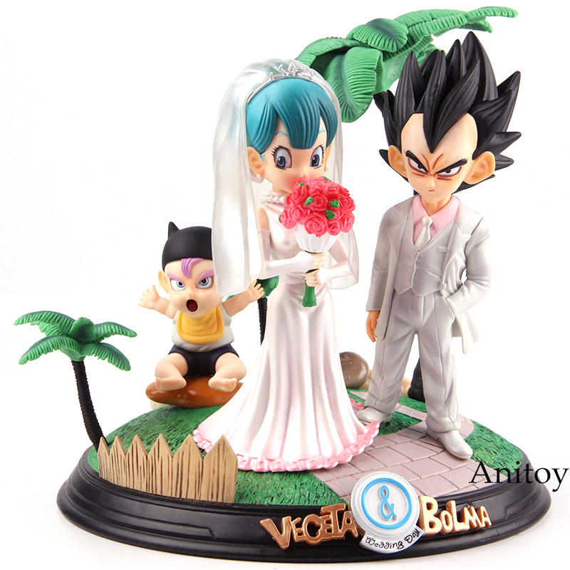 Dragon Ball Toys Vegeta & Bulma Wedding Day PVC Dragon Ball Figure Action Statue Figure Collectible Model Toy Set 100ml usa portable ford viscosity cup ink viscosity cup for paint 2 3 4mm