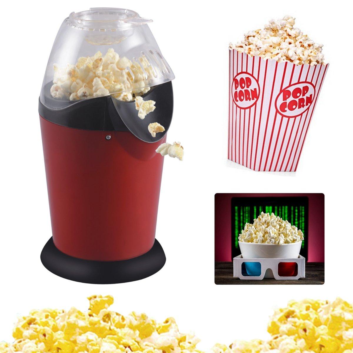 1200W Electric Corn Popcorn Maker Household Automatic Mini Hot Air Popcorn Making Machine DIY Corn Popper 110V 220V
