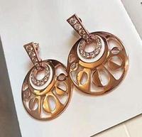 Trendy Stud Earings Fashion Jewelry 2018 Rose Gold Earrings for Women Stainless Steel Stud Round Earrings