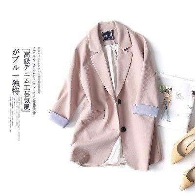 Longue 3 Blazers Costume Mousseline D'été Et Printemps Femelle De Section Petit 1 Lâche Soie 2 Femmes Occasionnel Mince Nouvelle Snq4ZwqHU
