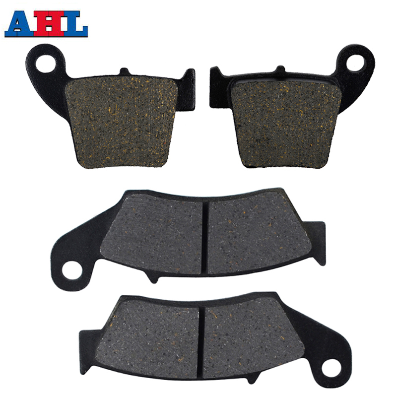 Motorcycle Front Rear Brake Pads For HONDA CRF250R CRF250X 2004-17 CR125R CR250R CR125 CR250 R 02-07 CRF450R 02-16 CRF450X 05-17(China)