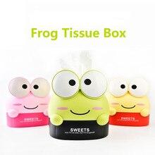 Very cute big eyes cartoon frog tissue box Fashion cartoon roll paper box