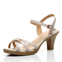 Quality Brife Kitten Singleback Women's Sandals 2016 Summer Ankle Strap Platform Sandals Women Summer Shoes J13