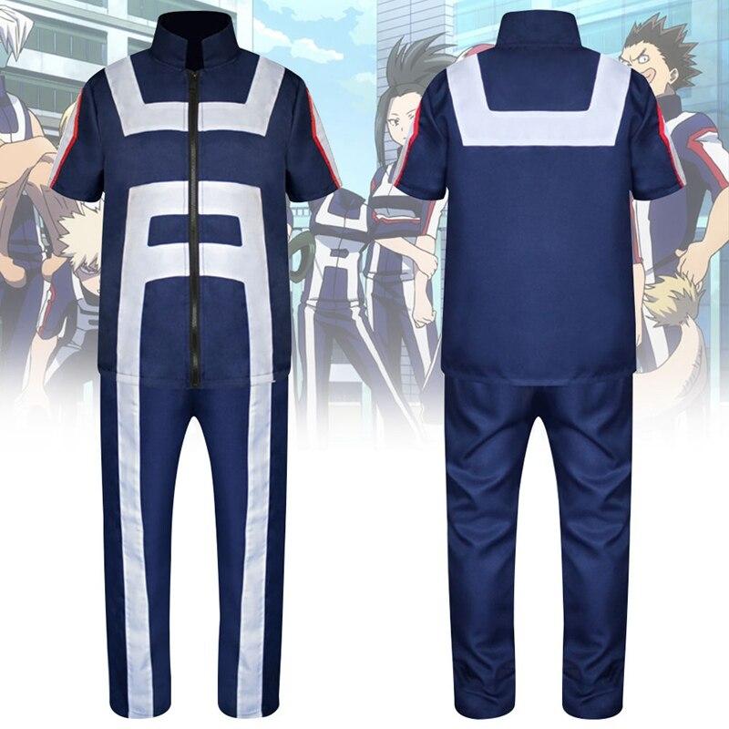 Anime Boku no Hero Bakugou Katsuki/Iida Tenya/Todoroki Shouto Cosplay Costume My Hero Academia Sportswear Tops+Pants