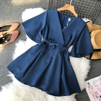 Bodysuit Women Summer Short Sleeve Sexy V neck Slim Playsuits Femme 2019 New Girls Casual Beach Overalls Body Jumpsuits Mujer