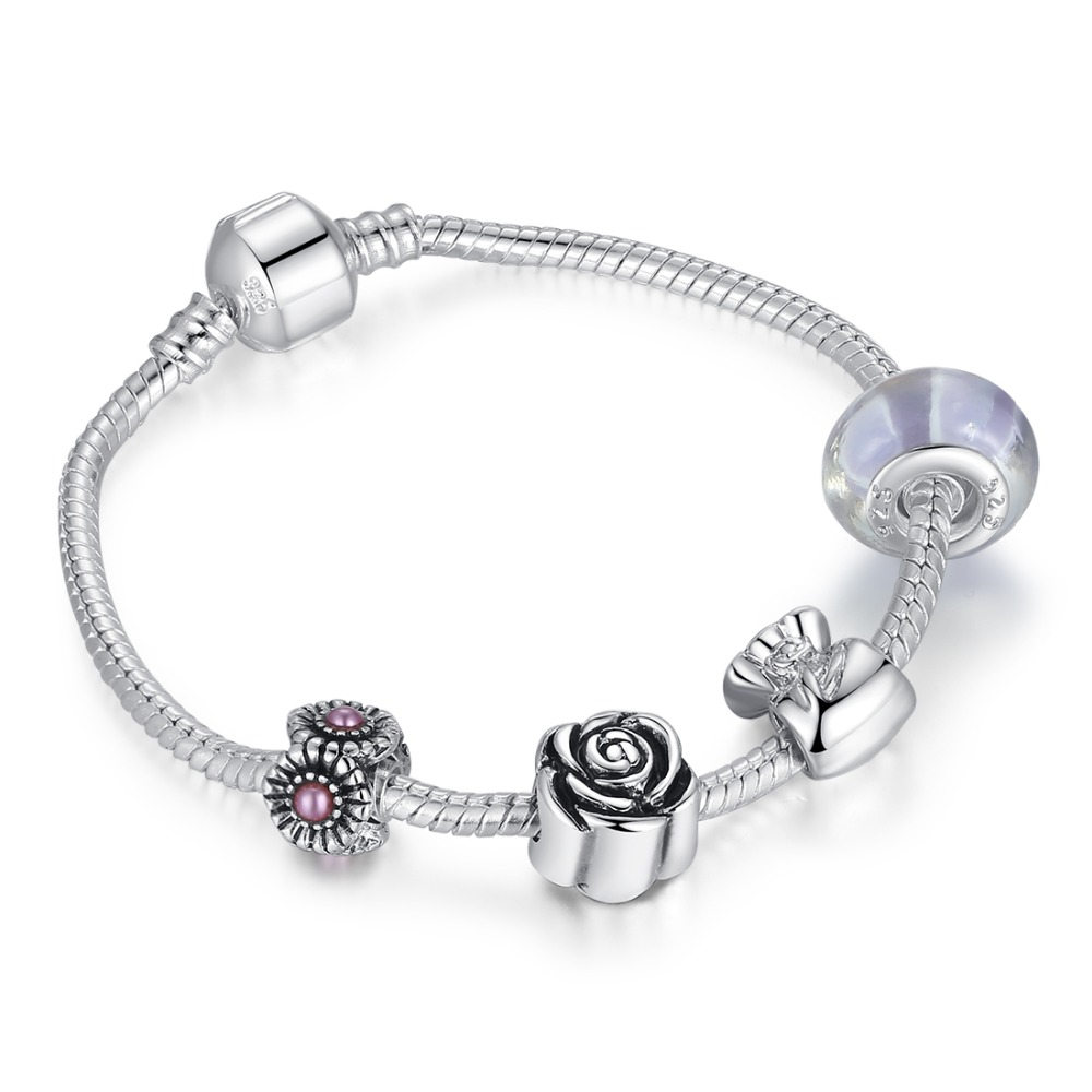 Wholesale 925 Sterling Silver Charm Bracelet For Women Beads Jewelry  Original Bracelets Pulseira Gift Sdp1439