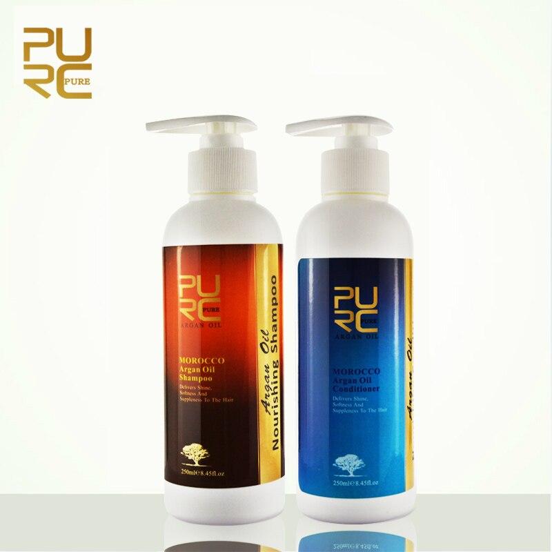 PURC Argan Oil Hair Shampoo 250ml And Hair Conditioner 250ml Set No Stimulation Deep Repair Damaged Hair Morocco Hair Care Set