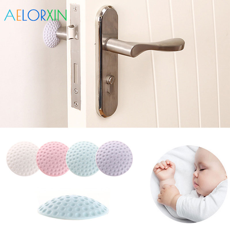 4Pcs/Lot Protection Baby Safety Shock Security Card Door Stopper Baby Newborn Care Children's Safety Child Lock Protection