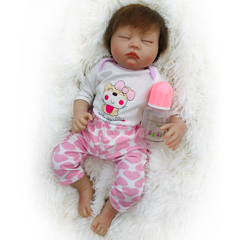 Otarddolls Reborn doll 20 quot 50cm Baby girl Dolls soft Silicone Boneca Reborn children 39 s day gifts toys bed time birthday gift in Dolls from Toys amp Hobbies