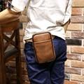 [Xiao p bolsa] moda crazy horse cuero de la pu de los hombres paquete de la cintura para iphone/carteras de viaje ocasional cinturón gancho bolsa riñonera