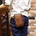 [Xiao saco p] moda pacote de cintura dos homens de couro crazy horse pu para iphone/carteiras bloco de fanny cinto gancho gancho do saco saco de viagem ocasional