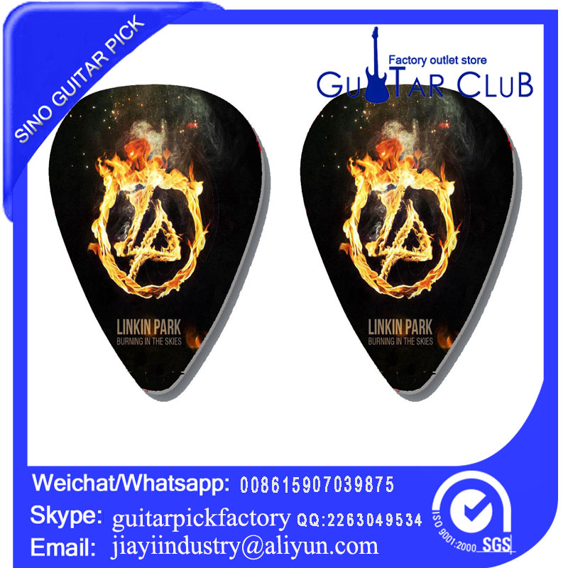 Free shipping fire link park 2 side pirnted on guitar pick ukulele pick bass pick 120 pcs 25.6USD only