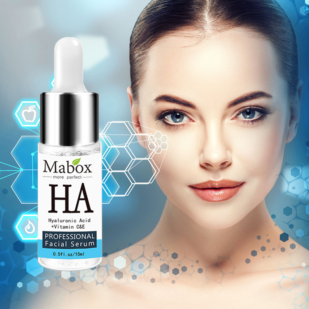 Mabox Hyaluronic Acid Serum Facial Snail Essence Face Cream Shrink Pore  Acne Treatment Skin Care Repair Whitening AntiAnging