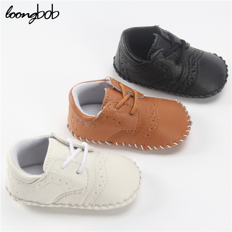Newborn Leather Shoes Infants Boy Handmade Stitch Pu Shoes bebe Slip-on First Walkers Kids Footwear Toddler Baby Boy Shoes