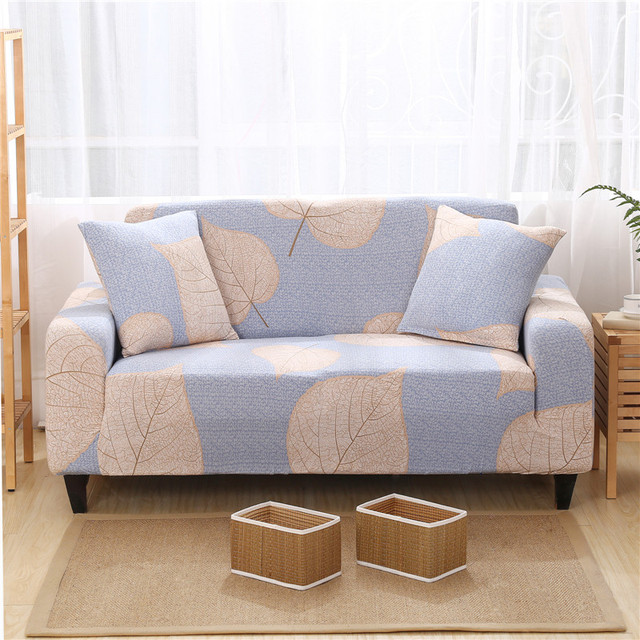 Brief Style Leaves Designer Universal Sofa Cover Elastic Stretch Sofa  Slipcovers For Single Double Three Four