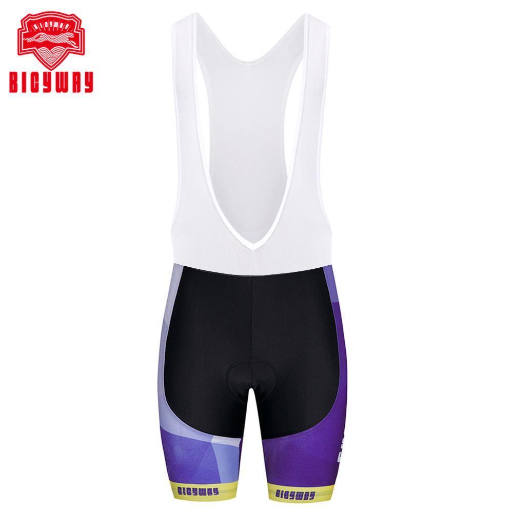 Bicyway Mens Cycling Vest Shorts Bicycle Bike Bib Shorts 3D Gel Padded Braces Bib Short Pants Cycling Bib Shorts