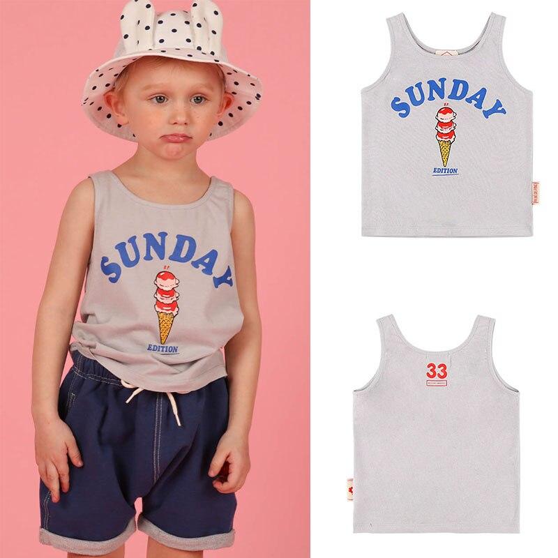 Enkelibb Tops Boys Vest Tshirt Ice-Cream Korean Print Fashion Summer Lovely Bebe-De-Pin--Toddler