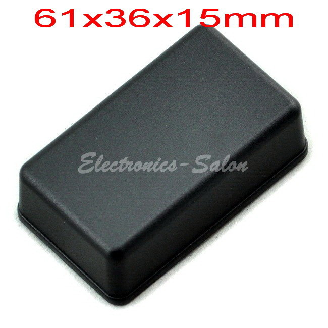 Small Desk-top Plastic Enclosure Box Case,Black, 61x36x15mm,  HIGH QUALITY.