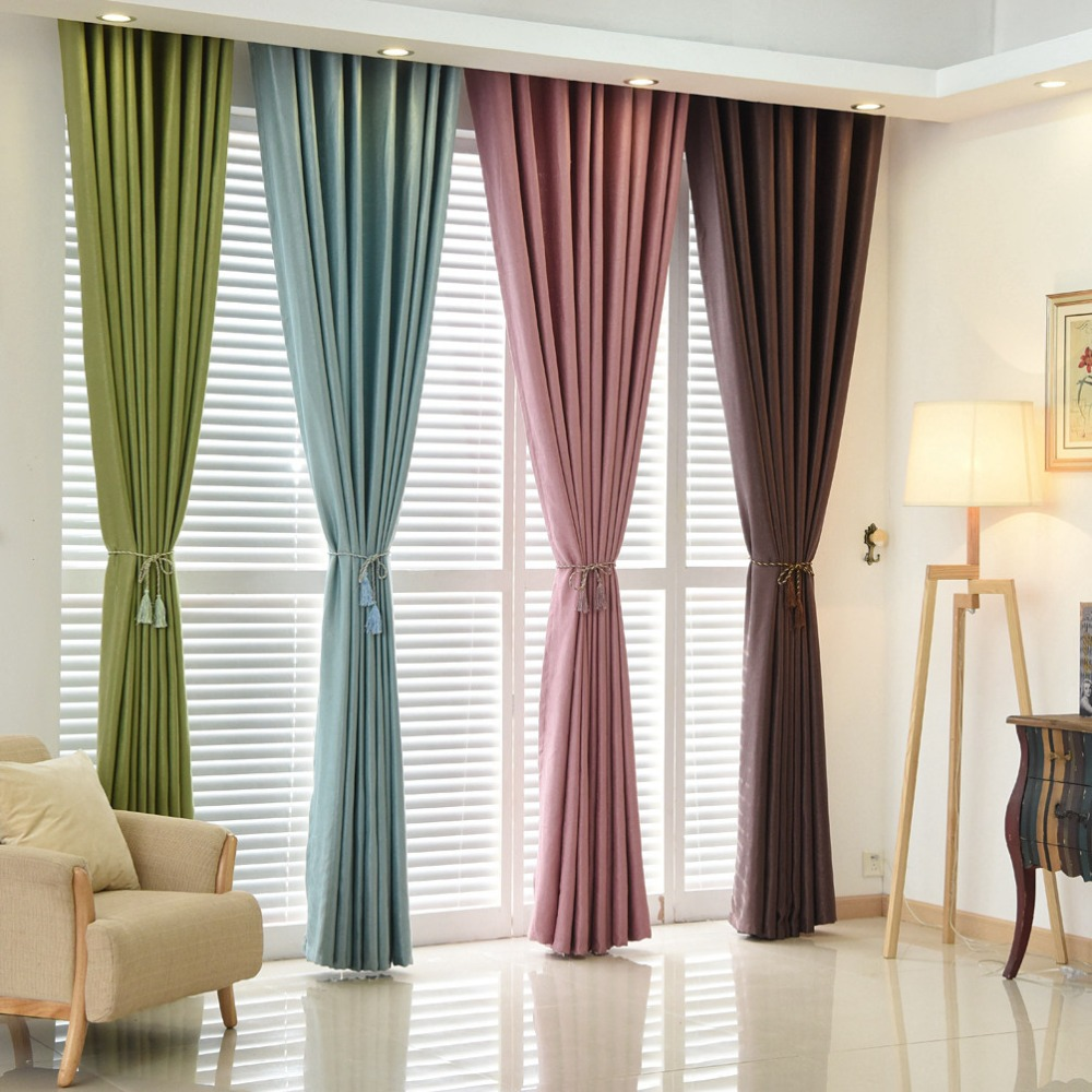 Window Curtain For Living Room Aliexpresscom Buy Plain Dyed Blackout Curtain Kitchen Door