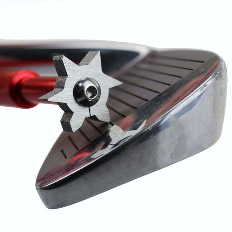Golf Cleaner Cleaning Knife Golf Club Groove Sharpener Tool Golf Iron Face Groove 6 Blade Iron Wedge Golf Club Groove Sharpener in Club Heads from Sports Entertainment