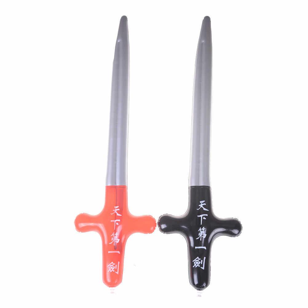 1 adet şişme açık oyuncaklar çocuklar bahçe bahçesinde oyuncaklar çocuk oyuncakları çocuk hediyeler oyuncaklar korsan kılıç şekil Anime şişme kılıç