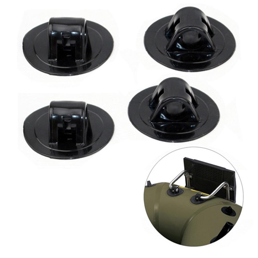 4 pièces noir supports moteur monture oeillet Vertical moteur raquette fixation crochet bateau gonflable partie canoë Kayak petit accessoire
