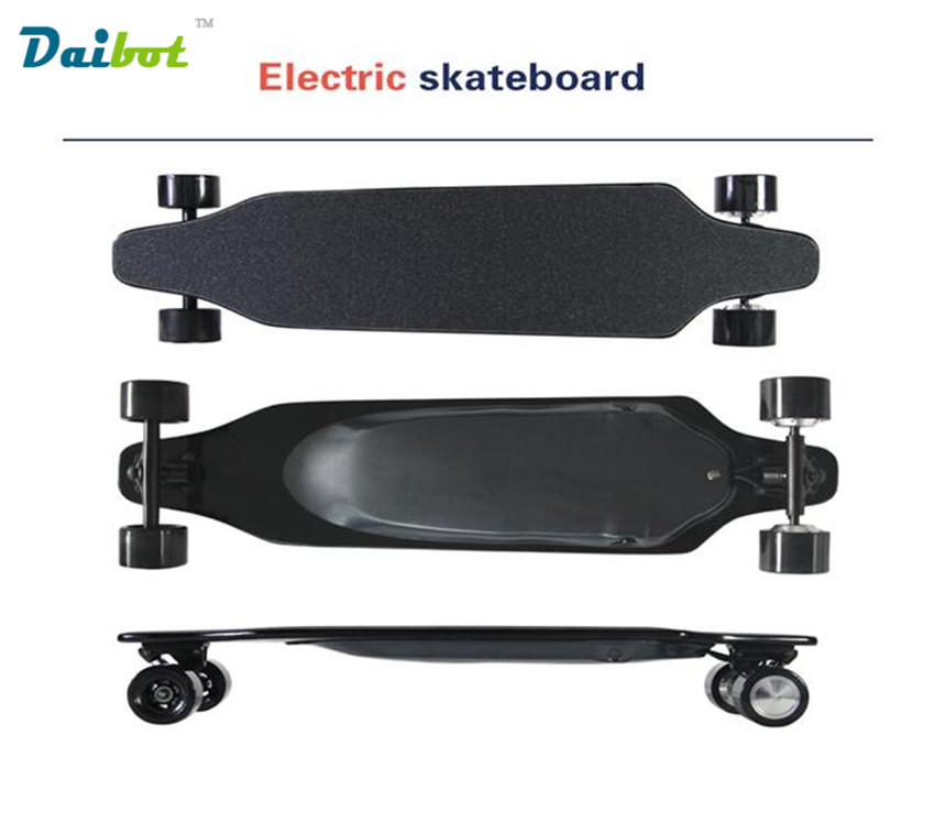 2017 New Wireless Bluetooth Control 4 Wheel Electric Skateboard Scooter Hoverboard Longboard Dual Motors 30 KM/H with carry bag 12 front wheel electric scooter kit electric scooter spare parts electric skateboard conversion kit