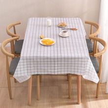 Nordic plaid waterproof anti-scalding oil-proof disposable tablecloth Simple style PEVA table mat